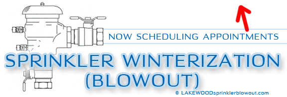 lakewood sprinkler winterization blowout